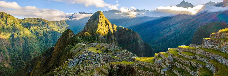 Banner Machu Picchu Sunlight