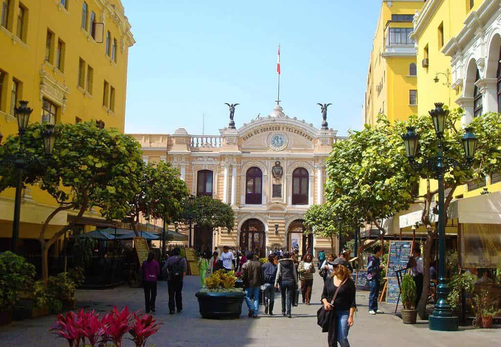 Straatbeeld van Lima