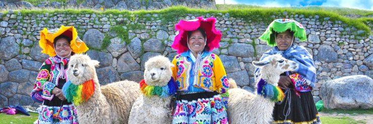 Peruaanse vrouwen & lama's
