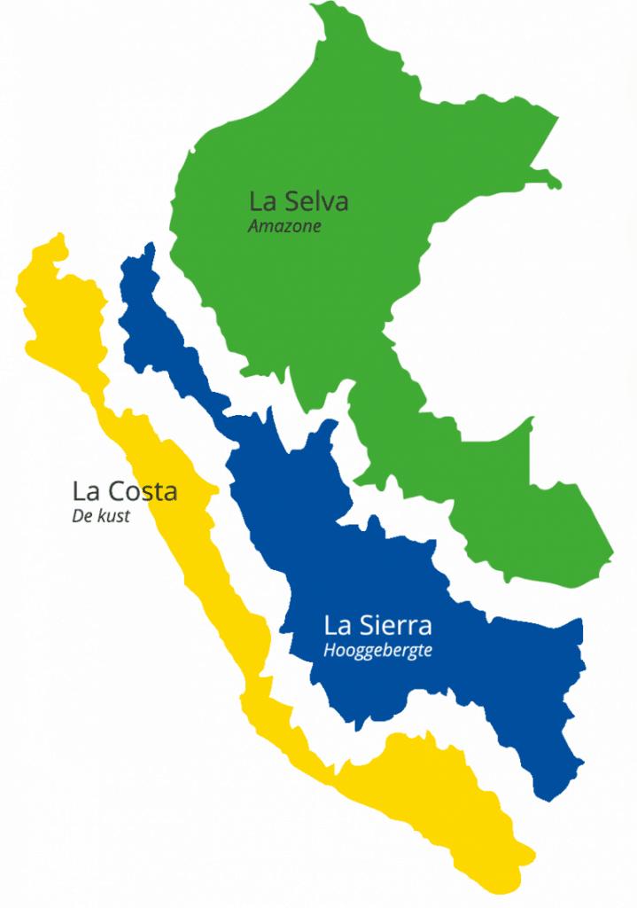 Peru - Klimaat regio's