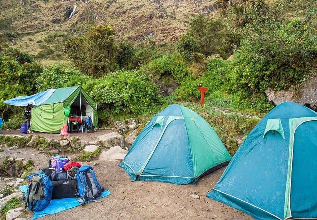 Kamperen tijdens Klassieke Inca trail