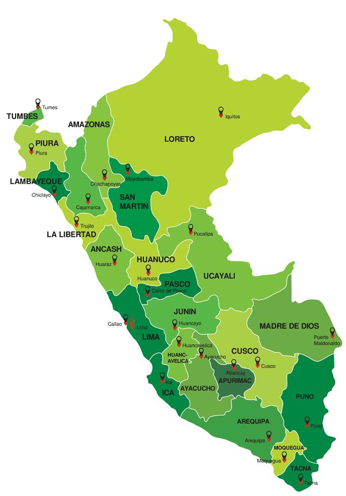 Landkaart Peru 1