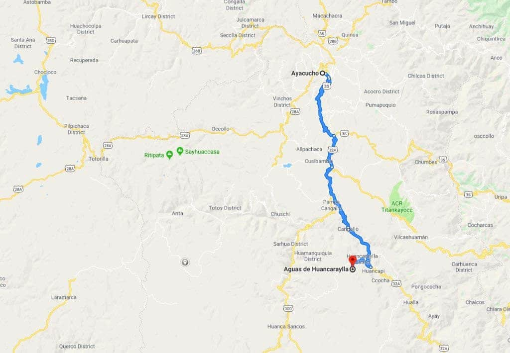 De natuurlijke zwembaden van Millpu in Ayacucho 1