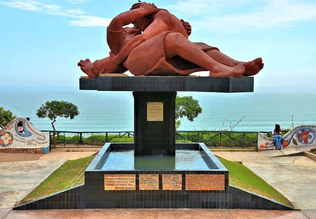 Parque del Amor, het park van de liefde in Lima 2